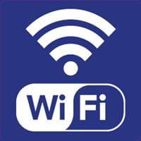 a drawing of a wi-fi logo