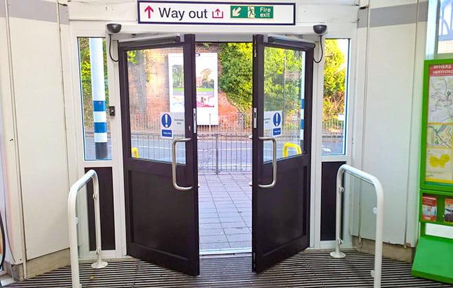 a train door