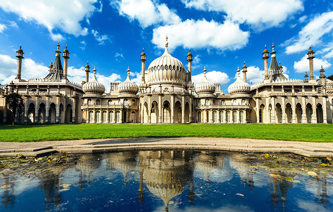 Royal Pavilion over a body of water